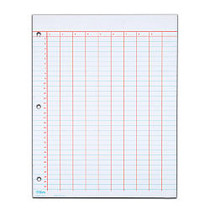 TOPS; Data Pad, 9 Column & Summary, 3-Hole Punched, 25 Sheets, White