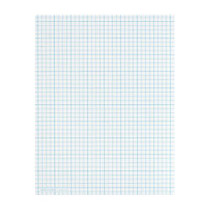 TOPS™ Cross Section Pad, 8 1/2 inch; x 11 inch;, Quadrille Rule, 50 Sheets, White Paper/Blue Ink