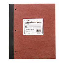 TOPS™ Lab Research Notebook With Carbon Sheets, 9 1/4 inch; x 11 inch;, Quad Ruled, 100 Sheets, Brown/Canary/White