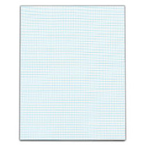 TOPS™ Quadrille Pad With Heavyweight Paper, 10 x 10 Squares/Inch, 50 Sheets, White