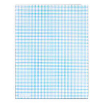 TOPS™ Quadrille Pad With Heavyweight Paper, 6 x 6 Squares/Inch, 50 Sheets, White