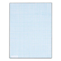 TOPS™ Quadrille Pad With Heavyweight Paper, 8 x 8 Squares/Inch, 50 Sheets, White
