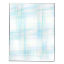 TOPS™ Quadrille Pad With Medium-Weight Paper, 5 x 5 Squares/Inch, 25 Sheets, White