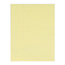 TOPS™ Quadrille Pad, 8 1/2 inch; x 11 inch;, Canary, 50 Sheets