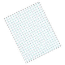 TOPS™ Quadrille Pad, 8 1/2 inch; x 11 inch;, Quad Ruled, White, 50 Sheets Per Pad, Pack Of 12 Pads