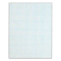 TOPS™ Quadrille Pads With Medium-Weight Paper, 4 x 4 Squares Front, 5 x 5 Squares Back, 25 Sheets, White, Pack Of 6