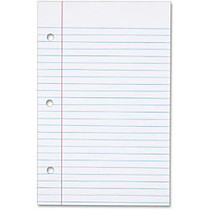 Tops 62304 Filler Paper - 100 Sheets - Printed - 20 lb Basis Weight - 5.50 inch; x 8.50 inch; - Bright White Paper - 100 / Pack