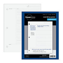 TOPS™ FocusNotes Filler Paper, 8 1/2 inch; x 11 inch;, 20 Lb, White, 100 Sheets