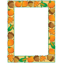 Scholastic Colorful Design Paper, Autumn Harvest, 8 1/2 inch; x 11 inch;, Pack Of 50