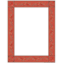 Scholastic Colorful Design Paper, Red Bandanna, 8 1/2 inch; x 11 inch;, Pack Of 50