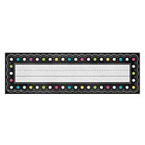 Teacher Created Resources Flat Name Plates, 3 1/2 inch; x 11 1/2 inch;, Chalkboard Brights, 36 Plates Per Pack, Case Of 5 Packs