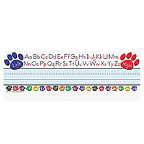 Teacher Created Resources Left/Right Alphabet Nameplates, 11 1/2 inch; x 3 1/2 inch;, Paw Prints Pack Of 36