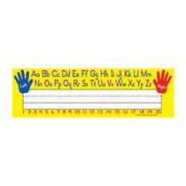 Teacher Created Resources Name Plates, 3 1/2 inch; x 11 1/2 inch;, Left/Right Alphabet , Pre-K To Grade 8, 36 Plates Per Pack, Set Of 5 Packs