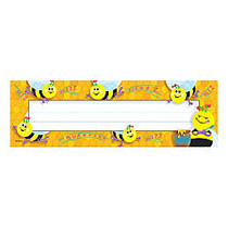 TREND Desk Toppers; Name Plates, Busy Bees, 2 inch; x 9 inch;, Multicolor, Grades Pre-K - 5, 36 Plates Per Pack, Set Of 6 Packs