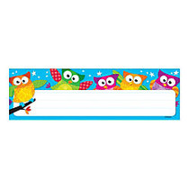 TREND Desk Toppers; Name Plates, Owl-Stars!™, 2 7/8 inch; x 9 1/2 inch;, Multicolor, Grades Pre-K - 4, 36 Plates Per Pack, Set Of 6 Packs