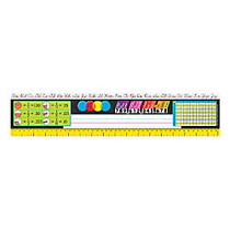 TREND Desk Toppers; Reference Name Plates, Zaner-Bloser, 3 3/4 inch; x 18 inch;, Grades 3-5, 36 Plates Per Pack, Set Of 3 Packs