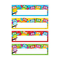 TREND Owl-Stars!; Desk Toppers; Variety Name Plates, 2 7/8 inch; x 9 1/2 inch;, Multicolor, Pre-K - Grade 5, 32 Plates Per Pack, Set Of 6 Packs