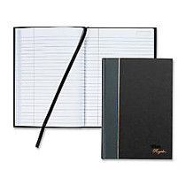 TOPS; Royale Casebound Notebook, 5 7/8 inch; x 8 1/4 inch;, Legal Ruled, 96 Sheets, Gray