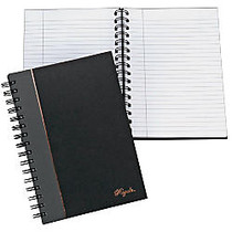 TOPS; Royale Wirebound Notebook, 5 7/8 inch; x 8 1/4 inch;, Legal Ruled, 96 Sheets, Gray/Black