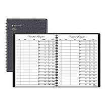 AT-A-GLANCE; Visitor Register Book, 8 1/2 inch; x 11 inch;, Black