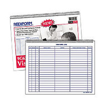 Rediform Visitor's Log Book - 50 Sheet(s) - Wire Bound - 1 Part - 8.50 inch; x 11 inch; Sheet Size - White Sheet(s) - Blue Print Color - Recycled - 1 Each