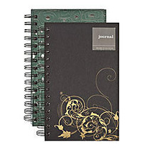 Textured Glitter Paper Wiro Journal, 5 inch; x 8 inch;, Assorted Colors (No Color Choice)