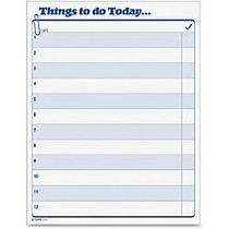 TOPS Things To Do Today Pad - 100 Sheet(s) - 8.50 inch; x 11 inch; Sheet Size - White