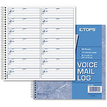 TOPS Voice Message Log Book - 50 Sheet(s) - 24 lb - Spiral Bound - 8.25 inch; x 8.50 inch; Sheet Size - Blue Print Color - 1 Each