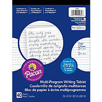 Pacon; Multi-Program Paper Tablet, Grades 2 - 3, 8 inch; x 10 1/2 inch;, 1/2 inch; Ruling, 80 Pages (40 Sheets)