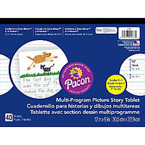 Pacon; Multi-Program Paper Tablets, Grades K - 1, 12 inch; x 9 inch;, 5/8 inch; Ruling, 80 Pages (40 Sheets)