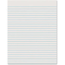 Pacon; Ruled Newsprint Practice Paper, 8 1/2 inch; x 11 inch;, 3/8 inch; Ruling, Pack Of 500 Sheets