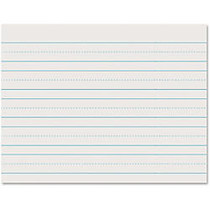 Pacon; Skip-A-Line Ruled Newsprint, Grade 1, 8 1/2 inch; x 11 inch;, 1 inch; LW, Pack Of 500 Sheets