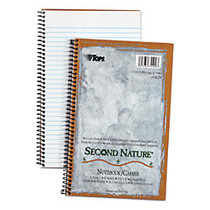 TOPS; Second Nature; 100% Recycled Perforated Notebook, 6 inch; x 9 1/2 inch;, 1 Subject, College Ruled, 40 Sheets, White