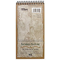 TOPS; Second Nature; 100% Recycled Reporter's Notebook, 4 inch; x 8 inch;, 1 Subject, Gregg Ruled, 70 Sheets, White