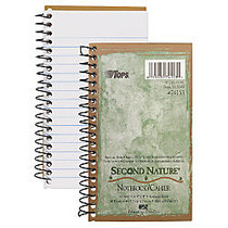 TOPS; Second Nature; 100% Recycled Wireless Perforated Notebook, 8 1/2 inch; x 11 inch;, 1 Subject, College Ruled, 80 Sheets, Earth-Tone