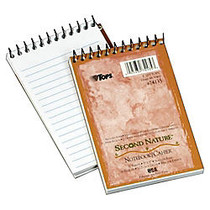 TOPS™ Second Nature; 30% Recycled Top Opening Memo Book, 3 inch; x 5 inch;, 1 Subject, Narrow Ruled, 50 Sheets, White