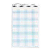 TOPS; NoteWorks; Quad Steno Book With Poly Cover, 6 inch; x 9 inch;, Quadrille Ruled, 100 Sheets, White