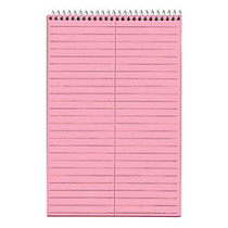 TOPS™ 100% Recycled Prism+ Color Steno Books, 6 inch; x 9 inch;, Gregg Ruled, 80 Sheets, Pink, Pack Of 4