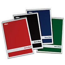 TOPS™ Steno Books, 6 inch; x 9 inch;, Gregg Ruled, 80 Sheets, Green, Pack Of 4
