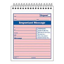Adams;  inch;While You Were Out inch; Message Pad, 4 1/4 inch; x 5 1/2 inch;, 50 Sheets, Pink
