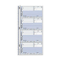 Rediform Self-Stick Message Book - 400 Sheet(s) - Spiral Bound - 2 Part - Carbonless Copy - 2.75 inch; x 6 inch; Form Size - 11 inch; x 6.12 inch; Sheet Size - White Sheet(s) - Black Print Color - 1 Each