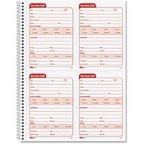 TOPS Service Call Message Form - 200 Sheet(s) - Spiral Bound - 2 Part - Carbonless Copy - 5.50 inch; x 4 inch; Form Size - 11 inch; x 8.25 inch; Sheet Size - Red Print Color - 1 / Each