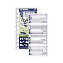 TOPS Spiral Carbonless While You Were Out Book - Spiral Bound - 2 Part - Carbonless Copy - 11 inch; x 5.50 inch; Sheet Size - Assorted Sheet(s) - Blue, Red Print Color - 1 Each