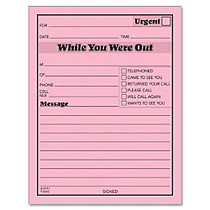 TOPS™ Important Message Note Pads, 4 1/2 inch; x 5 1/2 inch;, Pink, Pack Of 12