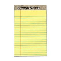 TOPS™ Second Nature; 50% Recycled 15-Lb Writing Pads, 5 inch; x 8 inch;, Legal Ruled, 50 Sheets, Canary, Pack Of 12 Pads