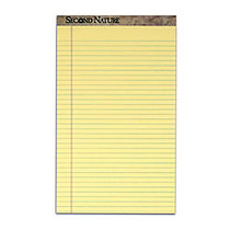 TOPS™ Second Nature; 50% Recycled 15-Lb Writing Pads, 8 1/2 inch; x 14 inch;, Legal Ruled, 50 Sheets, Canary, Pack Of 12 Pads