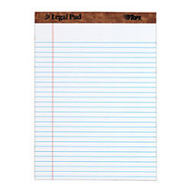 TOPS™ The Legal Pad Perforated Writing Pads, 8 1/2 inch; x 11 3/4 inch;, Legal Ruled, 50 Sheets, White/Blue, Pack Of 12