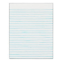 TOPS™ The Legal Pad; Glue-Top Writing Pad, 8 1/2 inch; x 11 inch;, Wide Ruled, 50 Sheets, White