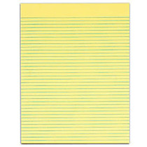 TOPS™ The Legal Pad; Glue-Top Writing Pads, 8 1/2 inch; x 11 inch;, Narrow Ruled, 50 Sheets, Canary, Pack Of 12 Pads
