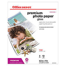 Office Wagon; Brand Premium Photo Paper, Gloss, 8 1/2 inch; x 11 inch;, 9 Mil, Pack Of 25 Sheets